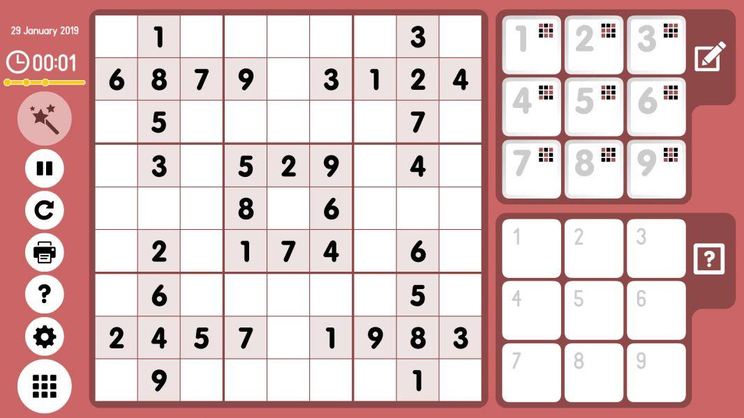 Level 2019-01-29. Online Sudoku
