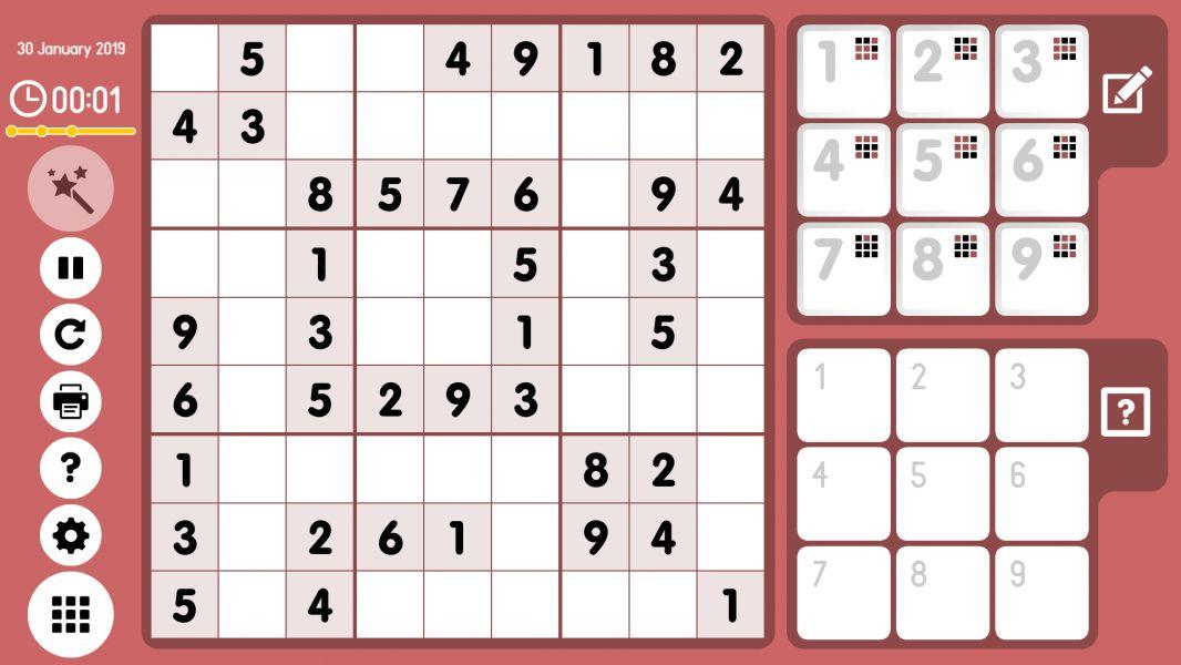 Level 2019-01-30. Online Sudoku