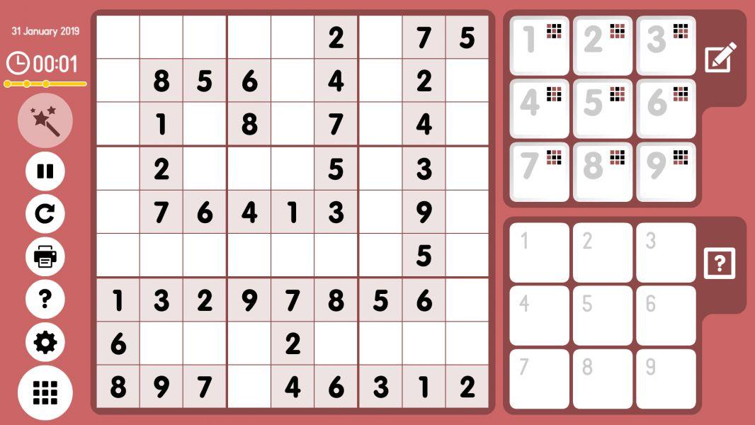 Level 2019-01-31. Online Sudoku