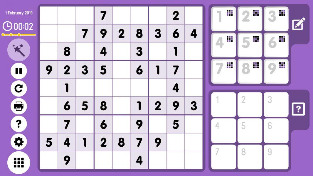 Level 2019-02-01. Online Sudoku