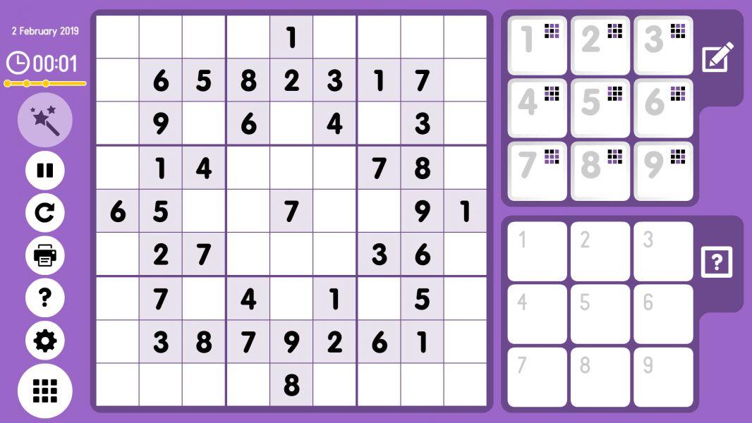 Level 2019-02-02. Online Sudoku