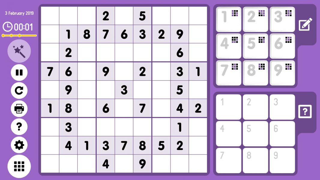 Level 2019-02-03. Online Sudoku