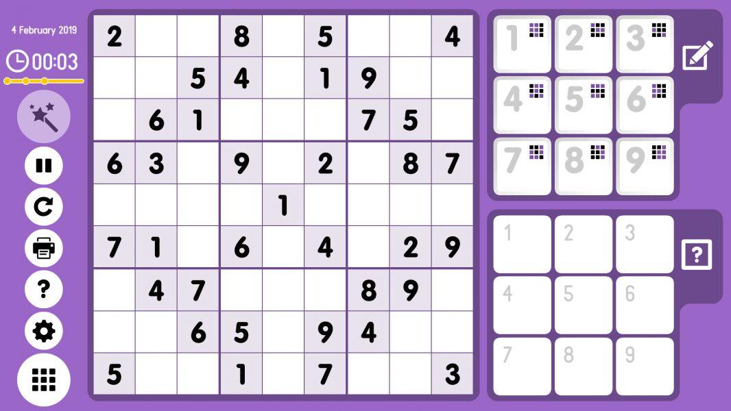 Level 2019-02-04. Online Sudoku