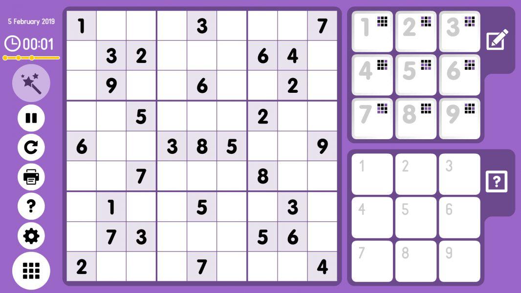 Level 2019-02-05. Online Sudoku