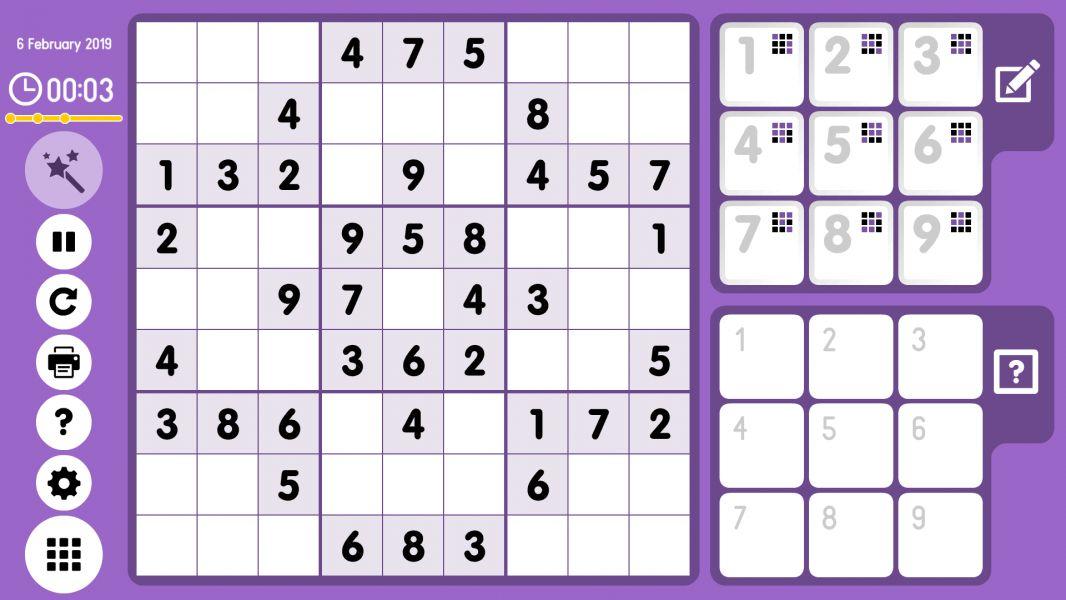 Level 2019-02-06. Online Sudoku