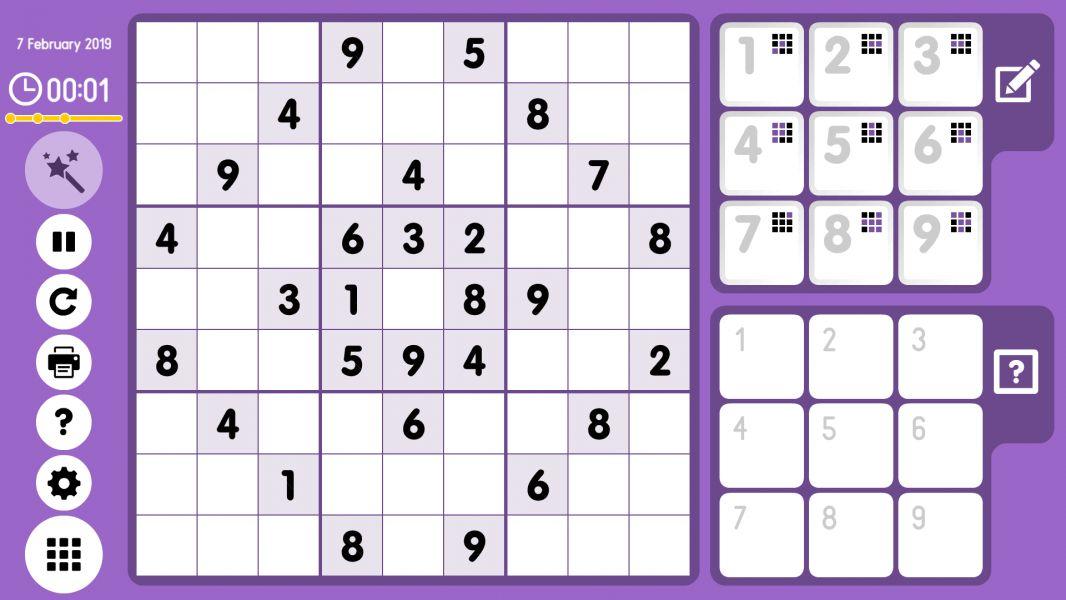 Level 2019-02-07. Online Sudoku