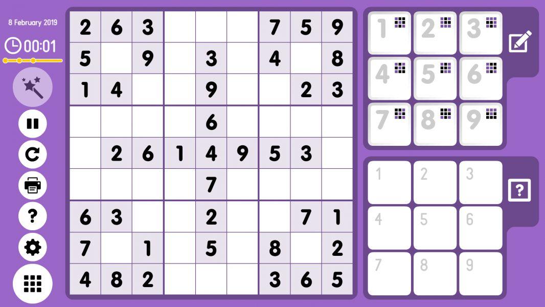 Level 2019-02-08. Online Sudoku