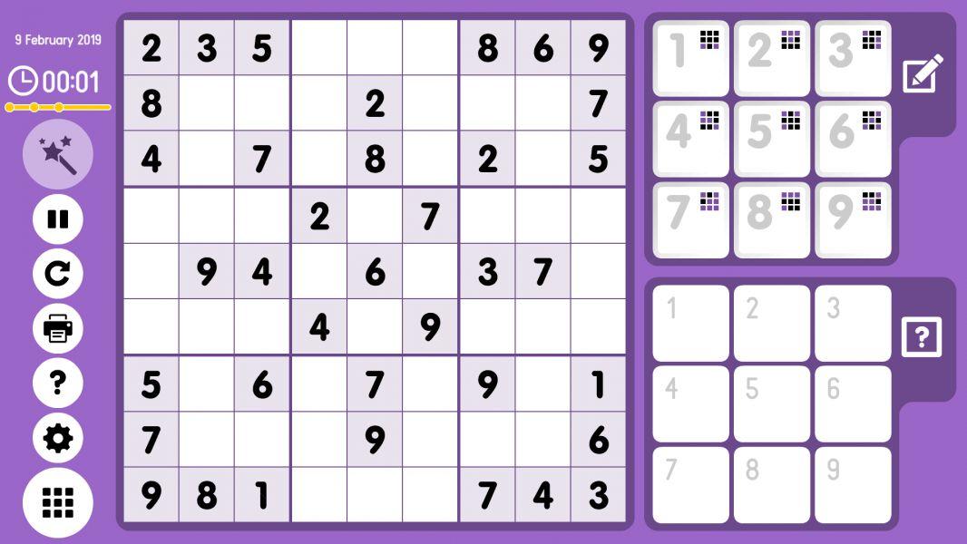 Level 2019-02-09. Online Sudoku