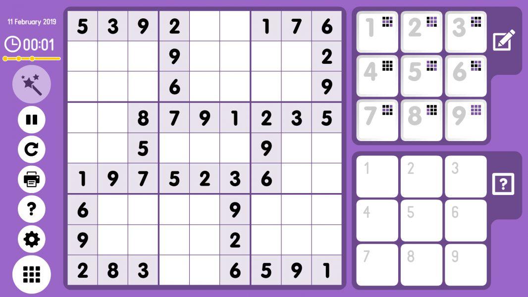 Level 2019-02-11. Online Sudoku