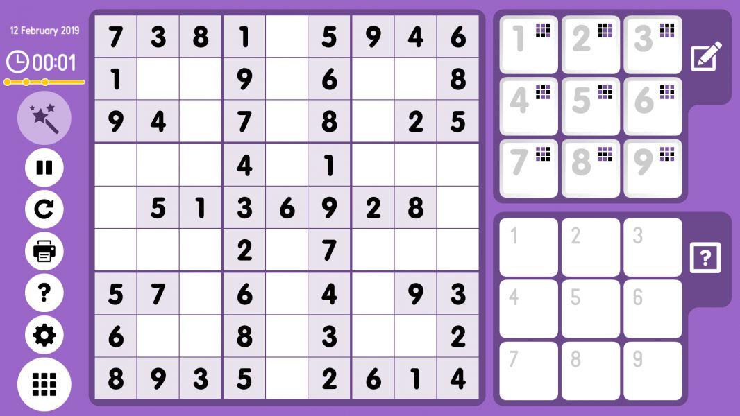 Level 2019-02-12. Online Sudoku