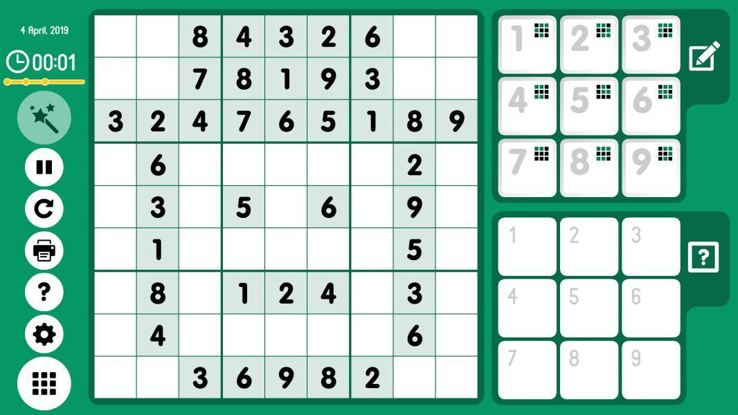 Level 2019-04-04. Online Sudoku