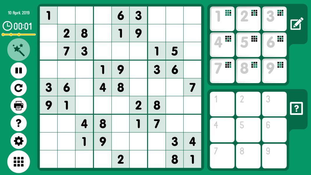 Level 2019-04-10. Online Sudoku