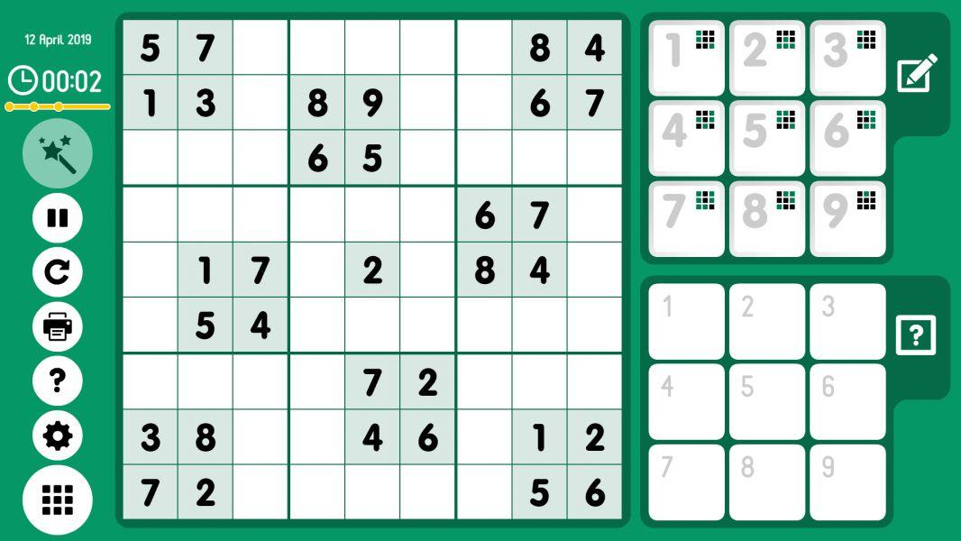 Level 2019-04-12. Online Sudoku