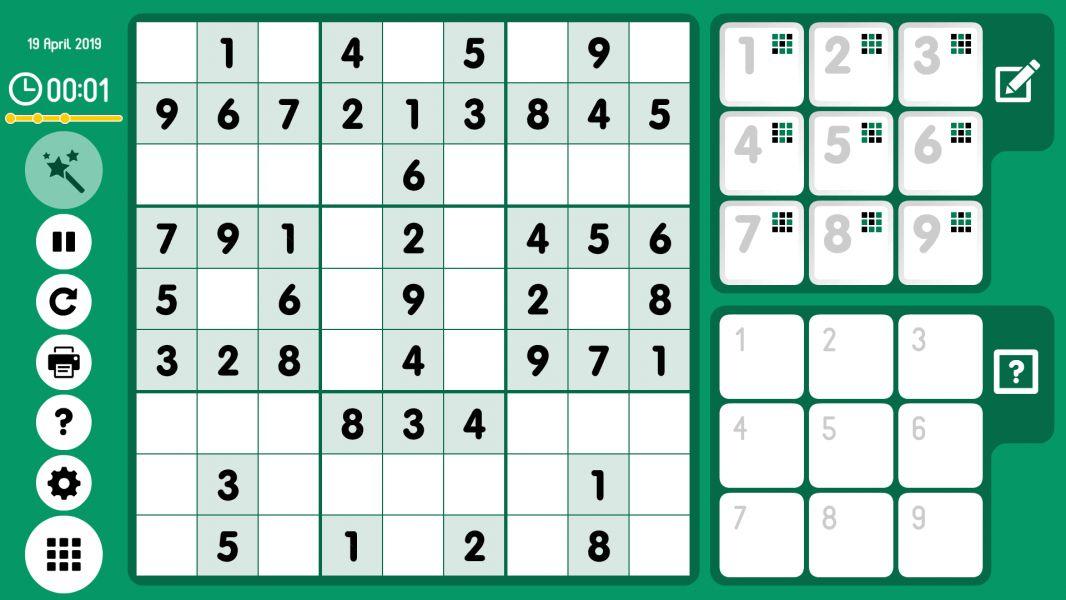 Level 2019-04-19. Online Sudoku