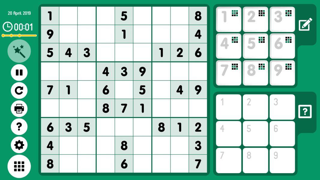Level 2019-04-20. Online Sudoku