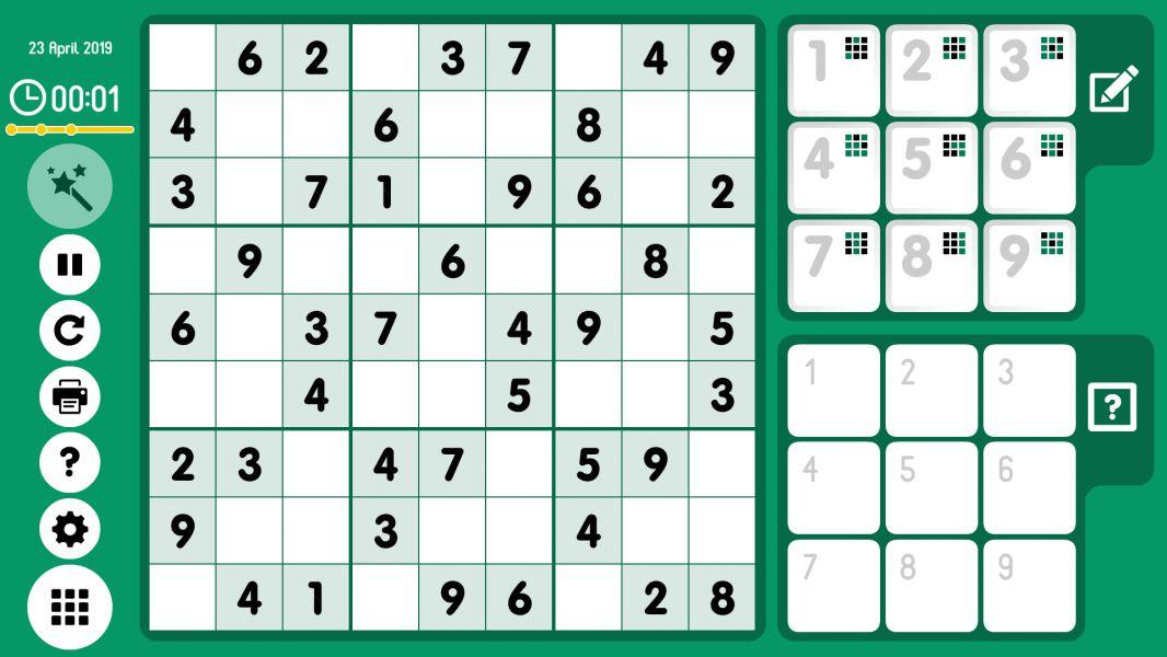 Level 2019-04-23. Online Sudoku