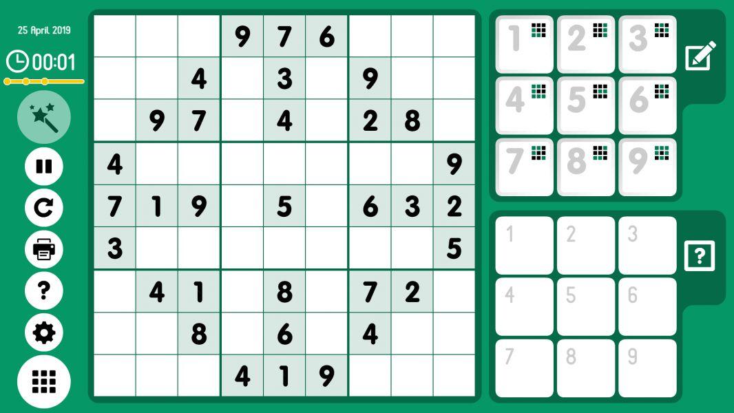 Level 2019-04-25. Online Sudoku